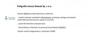 Wdrożenie systemu MyPrint w Poligrafia Janusz Nowak