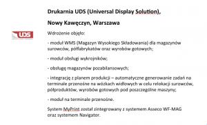 Wdrożenie systemu do zarządzania drukarnią UDS